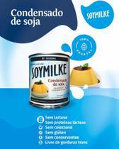 Leite condensado de soja vegano sem glúten soymilke 330g - Olvebra -