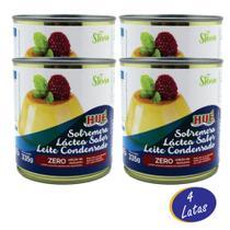 Leite Condensado Diet Zero Açúcar E Sem Glúten 335g Caixa com 4 Unidades - Hué Alimentos -