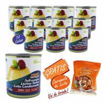 Leite Condensado Diet Zero Açúcar Sem Glúten 335g 12 Unidades Hué Alimentos + Brinde -