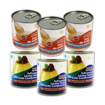 Leite Condensado E Doce de Leite Zero Açúcar Hué Sem Glúten Kit 6 Latas (3 De Cada) -