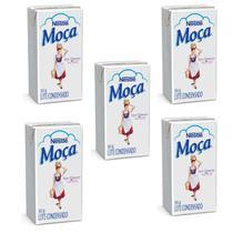Leite Condensado Moça Nestlé 395g - Combo com 05 Unidades -