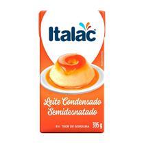 Leite Condensado Semidesnatado Italac Tetra Pack 395g - Embalagem c/ 27 unidades -