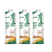 Leite de Arroz Original Risovita 1L Kit com 3 -