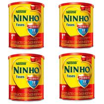 Leite Ninho Fases 1+ Composto Lácteo 400g - Kit 04 - Nestlé