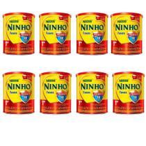 Leite Ninho Fases 1+ Composto Lácteo 400g - Kit 08 Latas - Nestlé -