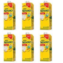 Leite Ninho Integral Nestlé Forti+ 1 Litro - Kit 06 Unidades -