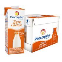 Leite Semidesnatado Piracanjuba Zero Lactose Caixa 12 un. 1L -