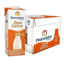 Leite UHT Semidesnatado Zero Lactose 1L CX 12 UN Piracanjuba -