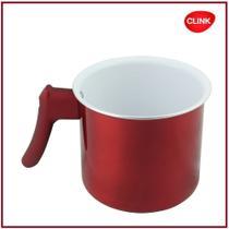 Leiteira Fervedor Vermelho Revest. Ceramico 12cm 1lt Clink -