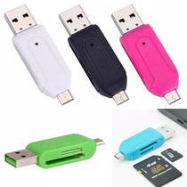 Leitor Adaptador Cartão Memória Micro USB OTG Celular Tablet - Microdrive