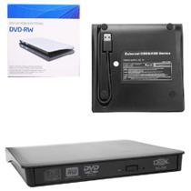 Leitor e gravador de cd e dvd externo slim usb 3.0 Dex -