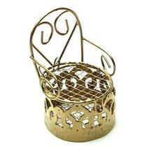 Lembrancinha Mini Cadeirinha Aramado Dourada 7318 - Eminencia