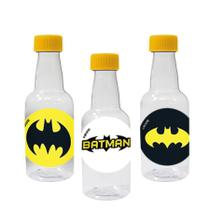 Lembrancinha Mini Garrafinha Festa Infantil Batman Geek 50ml 10 unidades - Festabox