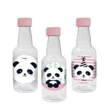 Lembrancinha Mini Garrafinha Panda Baby 50ml 10 unidades - Festabox