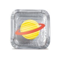 Lembrancinha Mini Marmitinha Festa Espacial 12 unidades Cromus - Festabox