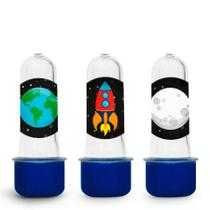 Lembrancinha Mini Tubete Tubo de Ensaio Festa Infantil Espacial 10 unidades - Festabox