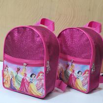 Lembrancinha Princesas mochila p com glitter - Festa das lembrancinhas