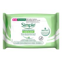 Lenço de Limpeza Facial Simple Sem Perfume 25 Unidades - Simple Clean