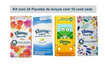 Lenço de Papel Kleenex de Bolso 24 pacotes de 10 Folhas - Kimberly Clark Brasil