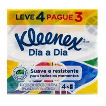 Lenço de Papel Kleenex Dia a Dia Suave Leve 4 Pague 3 -