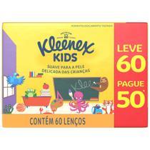 Lenço de Papel Kleenex Kids 60 Unidades -