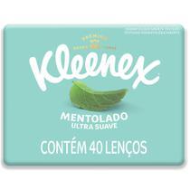 Lenço de Papel Kleenex Ultra Suave com Mentol 40 Unidades -