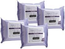 Lenço Demaquilante Neutrogena  - Night Calming 4 Pacotes com 25 Unidades Cada