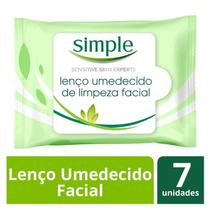 Lenço Demaquilante Simple Original 7 Unidades -