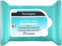 Lenço Micelar Neutrogena Purified Skin - 25 Unidades
