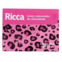 Lenço Removedor de Oleosidade Ricca com 50 Unidades -