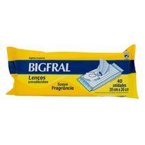 Lenço Umedecido Bigfral Adulto 40 Unidades -