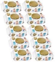 Lenço Umedecido Mili Love&Care 10 Pacotes com 100 unidades ( Total 1000 toalhinhas Umedecidas) -