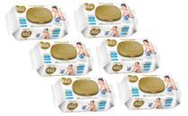 Lenço Umedecido Mili Love&Care 6 Pacotes com 100 unidades ( Total 600 toalhinhas Umedecidas) -