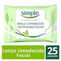 Lenço Umedecido Simple Para Limpeza 25 Unidades -
