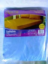 lençol avulso de solteiro com elástico em microfibra azul marca nura -