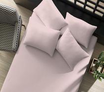 Lençol Casal Portallar Rosa Antigo 100% algodão -