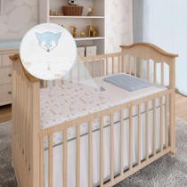 Lençol De Berço 3 Peças Tamanho Americano Enxoval Bebê Papi Raposa -