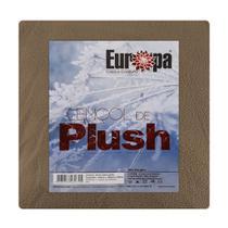 Lençol de Plush Queen Size Europa (158x198x43cm) - Cáqui -