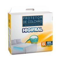 Lençol Descartável com Gel 80cm X 150cm com 05 Higifral - Bigfral