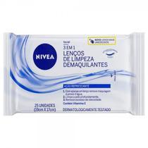 Lenços De Limpeza Facial Refrescante Nivea Com 25 Unidades -