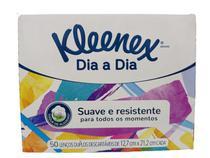 Lenços de papel kleenex dia a dia caixa com 50 lenços -