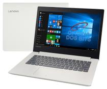 "Lenovo Ideapad 320 - Tela 14"", Intel Core i3 6006U, 4GB, HD 500GB, Windows 10 - Branco - 80YF0008BR"