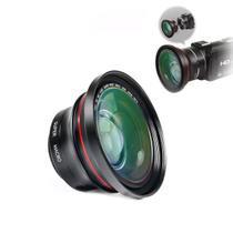 Lente 2 em 1 Ordro Capuz e Clip Full-HD Multifuncional Super Macro e Grande Angular 37mm/72mm/0.39x Filmadora Câmera Digital Smatphone (BTO) -
