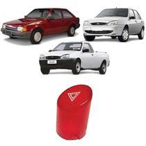 Lente do Botão Pisca Alerta Escort Fiesta Média Vermelho - Autoplast