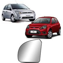 Lente do Retrovisor ka 2008 a 2014 Fiesta 2003 a 2014 Esquerdo Metagal -