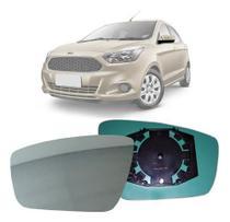 Lente Espelho Retrovisor Ford Ka 2015 a 2018 Lado Esquerdo (Motorista) - Blawer