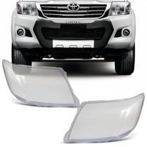 Lente Farol Toyota Hilux 2012 2013 2014 2015 Cristal - Imp