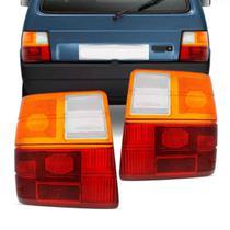 Lente Lanterna Traseira Fiat Uno Ambar 1986 A 2003 Tricolor - NACIONAL