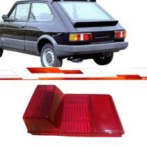 Lente lanterna traseira reta oggi spazio 1983 até 1986 vermelho com luz de placa serve ld e le - Acrilux