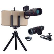 Lente para Celular Apexel Kit de Camera Luneta 18x Zoom com Tripe Telescopio Foto e Video da Lua -